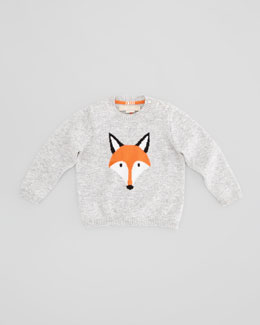 Christopher Fischer Fox Cashmere Sweater, Oatmeal, 6-24 Months