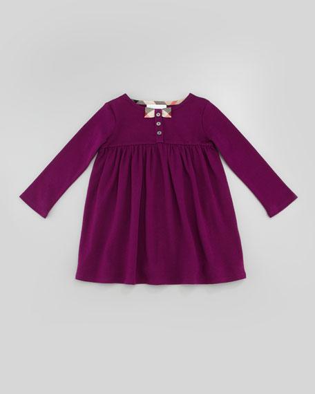 Infant Girl's Long-Sleeve Knit Dress, Purple, 2T-3T