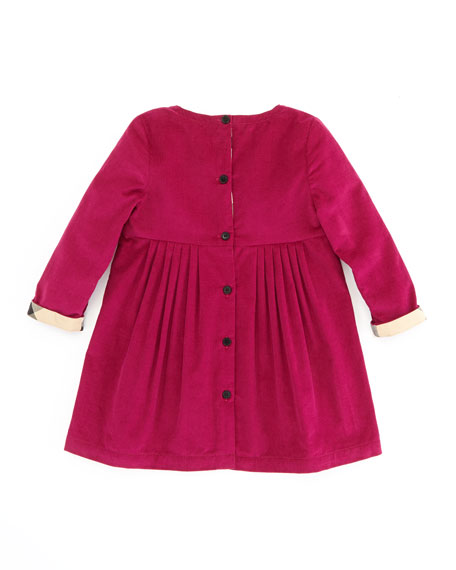 Girls' Corduroy Dress, Pink, 2T-3T