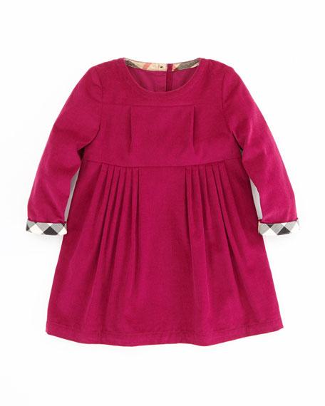 Girls' Corduroy Dress, Pink, 2T-3T