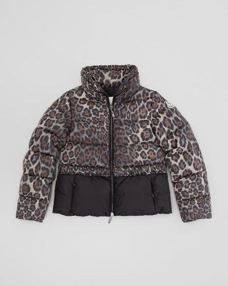 Argentee Cheetah-Print Quilted Jacket, Sizes 8-10