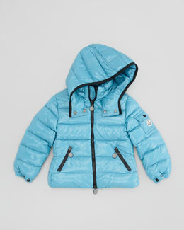 Moncler Bady Quilted Nylon Jacket, Blue, Sizes 2-6