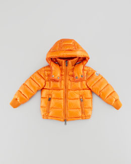 Moncler Boys' Hooded Ski Jacket, Orange, Sizes 2-6