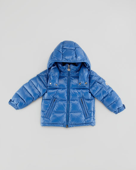 Quilted Hooded Jacket, Blue, Sizes 2-6
