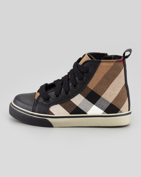 Check-Print High-Top, Black, Toddler