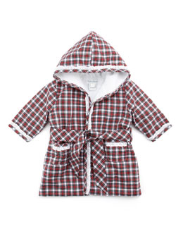 Ralph Lauren Childrenswear Tartan Plaid Bathrobe, Red, 3-9 Months