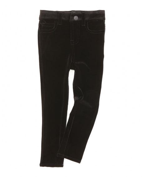 The Skinny Velveteen Jeans, Black, Sizes 4-6X