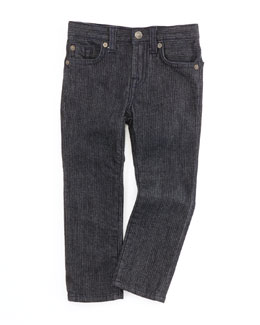 7 For All Mankind Slimmy Herringbone Jeans, 4-7