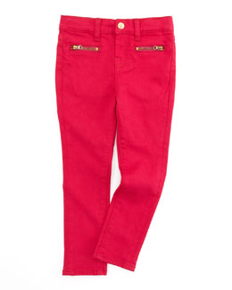 7 For All Mankind The Skinny Cerise Jeans, Pink, Sizes 8-10