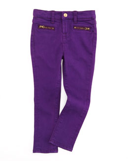 7 For All Mankind The Skinny Grape Royal, Sizes 8-10
