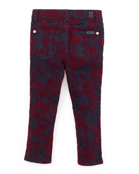 The Skinny Velvet Floral Jeans, Sizes 4-6X