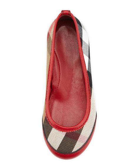 Kid Parade Ballerina Flat, Red, EU Sizes 27-34