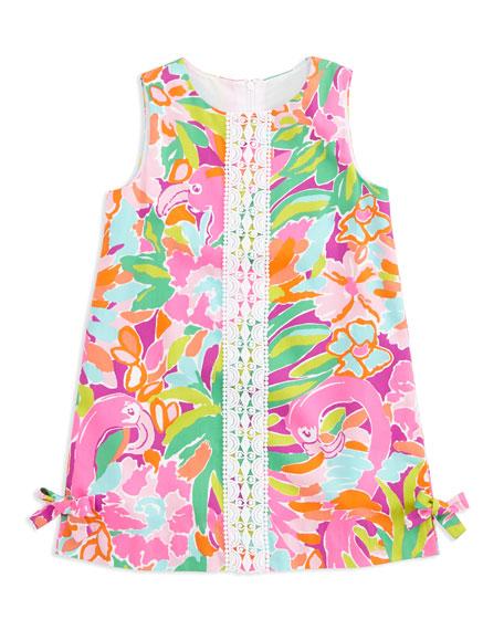 99f0ec22c72fc6 Lilly Pulitzer Flamingo-Print Little Lilly Classic Shift Dress, Sizes 2-6