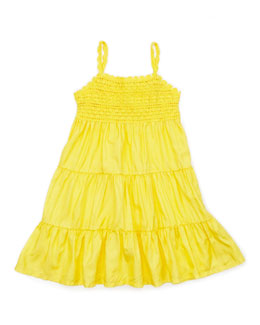Ralph Lauren Childrenswear Crochet-Detail Sleeveless Sundress, Maitai Yellow, 4-6X