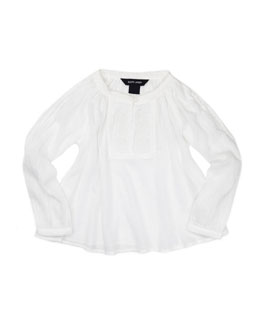 Ralph Lauren Childrenswear Lightweight Gauze Tunic, White, Sizes 4-6X