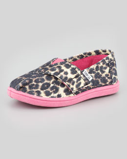 TOMS Leopard-Print Canvas Slip-On, Tiny