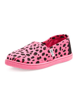 TOMS Youth Dalmatian-Print Classic Slip-On, Pink