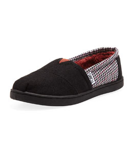TOMS Houndstooth Classic Slip-On, Youth