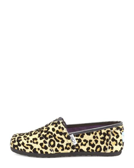 Youth Cheetah-Print Glitter Slip-On