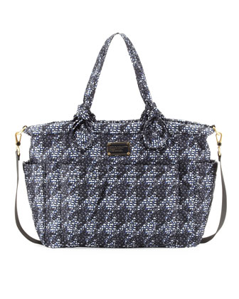 Pretty Nylon Eliz-A-Baby Diaper Bag, Indigo