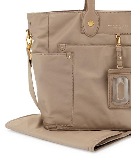 Preppy Nylon Eliz-A-Baby Diaper Bag, Light Grey