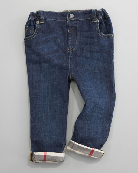Five-Pocket Denim Trousers, 6 Months- 2Y