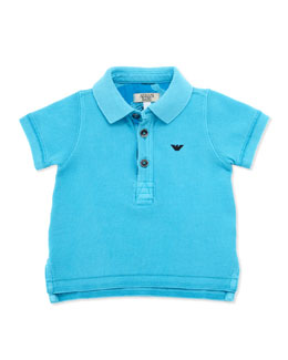 Armani Junior Infant Boy's Basic Polo, Bright Blue, 3-24 Months