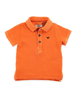 Armani Junior Infant Boys' Basic Polo, Orange, 3-24 Months