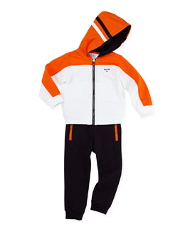Armani Junior 2-Piece Track Suit, Orange