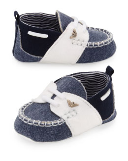 Armani Junior Soft Colorblock Baby Shoe, Multi