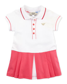 Armani Junior Colorblock Tennis Dress, Pink/White, 3-24 Months