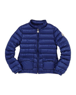 Moncler Lans Quilted Tech Jacket, Royal, Sizes 8-10