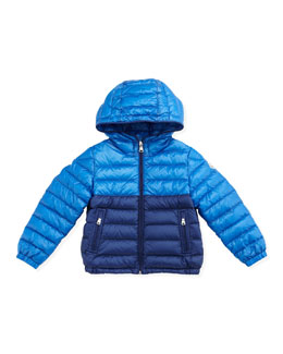 Moncler Emeric Long Season Packable Jacket, Blue, Sizes 2-6