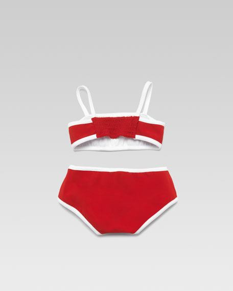 Baby Girl Two-Piece Swimsuit, Red