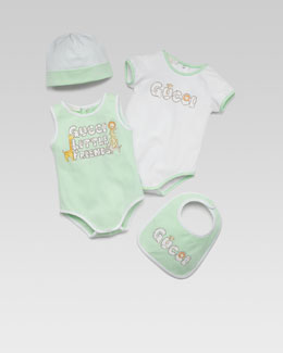 Gucci Baby Girl 4-Piece Gift Set, Green