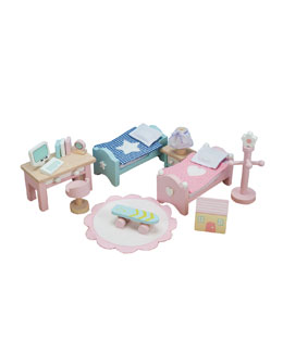 "Le Toy Van ""Daisy Lane"" Children's Bedroom Dollhouse Furniture"