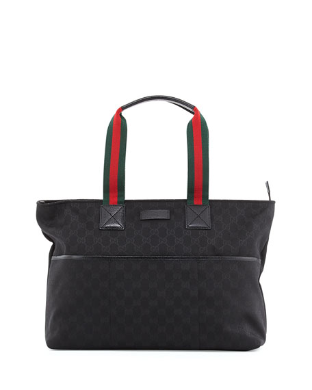 692299cc2 Gucci GG Supreme Canvas Diaper Bag, Black