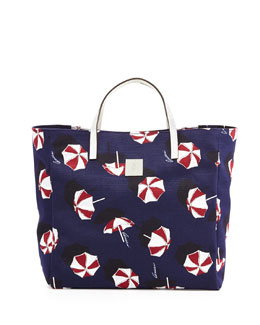 Gucci Girls' Parasol-Print Tote Bag, Blue