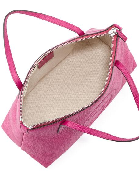 Girls' Interlocking G Tote Bag, Fuchsia