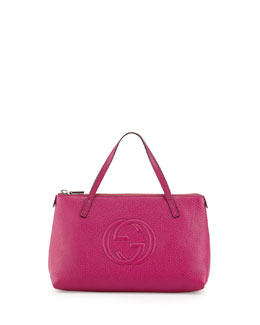 Gucci Girls' Interlocking G Tote Bag, Fuchsia