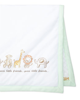 Gucci Little Friends Cotton Baby Blanket, Multi