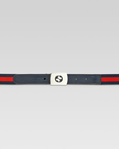 Boys' Adjustable Web Belt, Blue