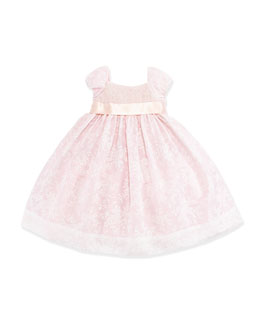 Ralph Lauren Childrenswear Smocked Floral-Print Organza Dress, Girls' 4-6X