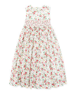 Ralph Lauren Childrenswear Smocked Floral Dress, Girls' 4-6x