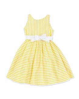Ralph Lauren Childrenswear Vintage Seersucker Dress, Yellow, 2T-3T