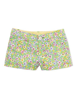 Ralph Lauren Childrenswear Floral-Print Shorts, Green, 2T-3T
