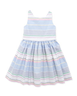 Ralph Lauren Childrenswear Little Run On Oxford Dress, 2T-3T