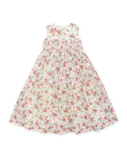 Ralph Lauren Childrenswear Smocked Floral Dress, 2T-3T