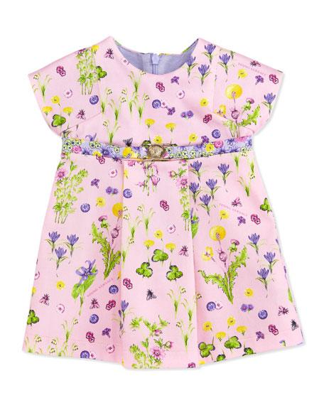Floral-Print Dress, Pink, 3-9 Months
