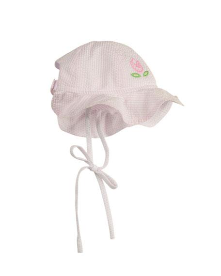 Newborn Small World Hat, Pink/White